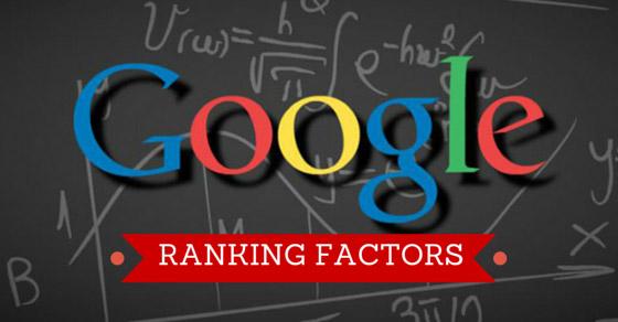 Google faktory hodnocení stránek